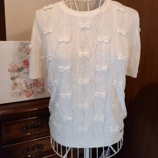 CHANEL - CHANEL新品リボン半袖セーター