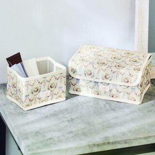 Maison de FLEUR - メゾンドフルール ★ 花柄収納ボックス*2個セット ★ 新品付録