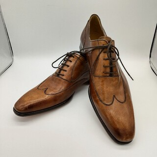 ランバンコレクション(LANVIN COLLECTION)のランバン 内羽根 ウィングチップ ブラウン 革靴 カジュアルフォーマル(ドレス/ビジネス)