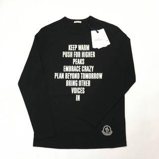 モンクレール(MONCLER)の新品 MONCLER ロゴ レタリング プリント Tシャツ ロンT ブラック(Tシャツ/カットソー(七分/長袖))
