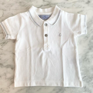 プチバトー(PETIT BATEAU)のプチバトー ポロシャツ 12m(シャツ/カットソー)