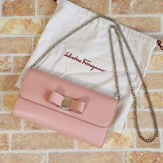 Ferragamo - 美品 フェラガモ ☆ ヴァラ 2WAY ショルダーバッグ クラッチ ピンク 伊製