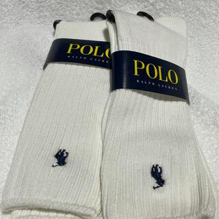 POLO RALPH LAUREN - POLO ポロ ラルフローレン メンズ靴下 白 2足セット