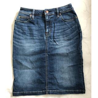 ムジルシリョウヒン(MUJI (無印良品))の膝丈デニムタイトスカート(ひざ丈スカート)
