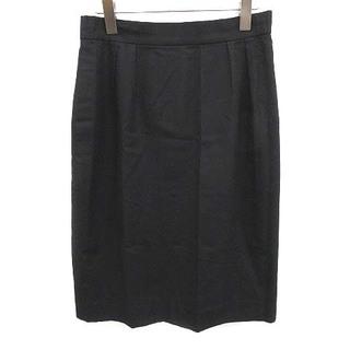 クリスチャンディオール(Christian Dior)のクリスチャンディオール スカート タイト ひざ丈 ヴィンテージ LL 黒(ひざ丈スカート)