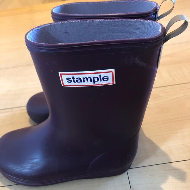 stample 長靴パープル 17.0㎝ キッズ/ベビー/マタニティのキッズ靴/シューズ(15cm~)(長靴/レインシューズ)の商品写真