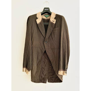 COMME des GARCONS HOMME PLUS - AD2008 09ss 脱色期復刻 脱色ウール縮絨燕尾ジャケット