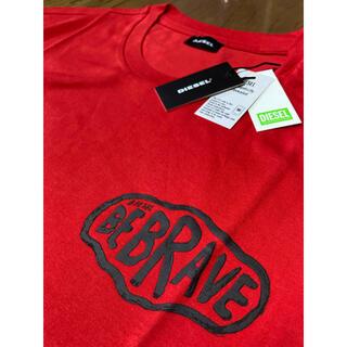 ディーゼル(DIESEL)のDIESEL  新品 XXLサイズ  ロングTシャツ 薄手 レッド ディーゼル(Tシャツ/カットソー(七分/長袖))