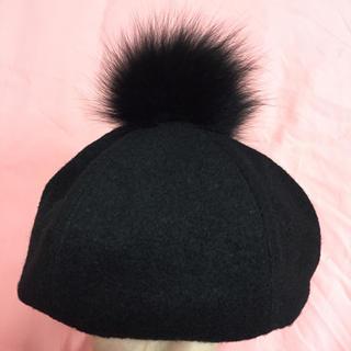 アナスイ(ANNA SUI)の☃️ANNASUIファー付きベレー帽☃️(ハット)