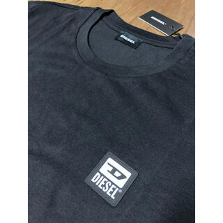 ディーゼル(DIESEL)のDIESEL  新品 Lサイズ  ロングTシャツ 薄手 ブラック ディーゼル(Tシャツ/カットソー(七分/長袖))