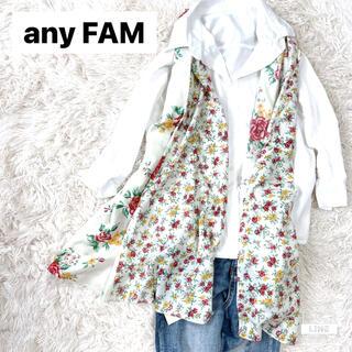 エニィファム(anyFAM)の【新品】any FAM by KUMIKYOKU レディースストール 花柄(ストール/パシュミナ)