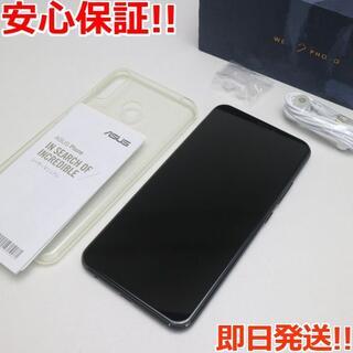 ゼンフォン(ZenFone)の美品 SIMフリー ZenFone 5Z ブラック 本体 白ロム (スマートフォン本体)