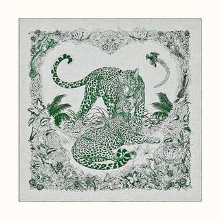 エルメス(Hermes)の リンカ様専用 HERMES カシシル ジャングルラブ  カシミアシルク(ストール/パシュミナ)