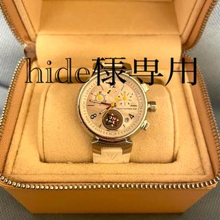 ルイヴィトン(LOUIS VUITTON)のルイヴィトン タンブールSS クロノラバー ラブリーカップ 替えベルト付き(腕時計)