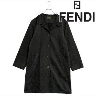 フェンディ(FENDI)の新品 FENDI イタリア製 ズッカ柄 レオパード柄 ヒョウ(ロングコート)