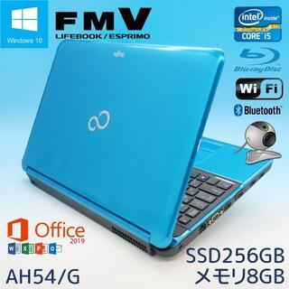 富士通 - Office2019/富士通ノートパソコン/新品SSD256GB/ブルーレイ