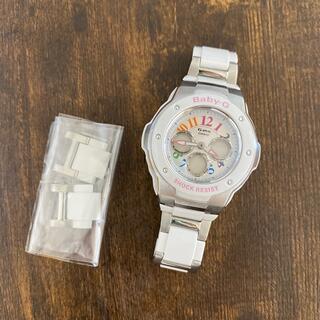 ベビージー(Baby-G)のBaby-G ホワイト白 腕時計(腕時計)