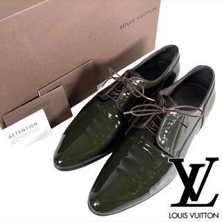 ルイヴィトン(LOUIS VUITTON)の美品 LOUIS VUITTON エナメル プレーントゥ  外羽根(ドレス/ビジネス)