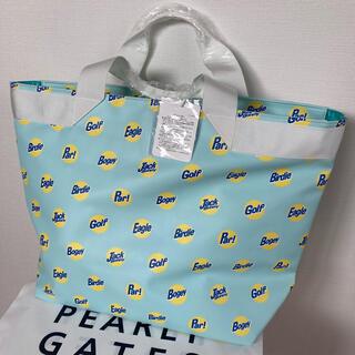 パーリーゲイツ(PEARLY GATES)の新品 パーリーゲイツ ジャックバニーmプリントトートバック 青 定価13200円(バッグ)