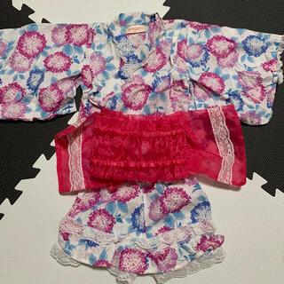 シマムラ(しまむら)のキッズ 浴衣 ドレス浴衣 90cm(甚平/浴衣)