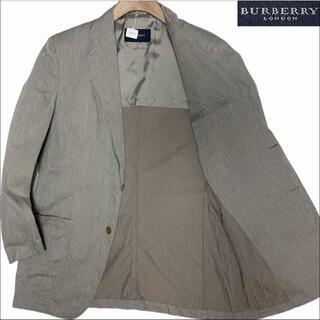バーバリー(BURBERRY)のJ5050 美品 バーバリーロンドン コットン サマージャケット グレー系 L(テーラードジャケット)