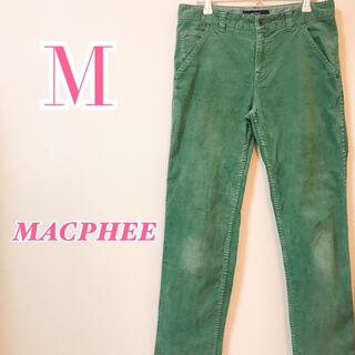 MACPHEE - MACPHEE マカフィー カラーデニム セミワイドパンツ 大人女子 カジュアル