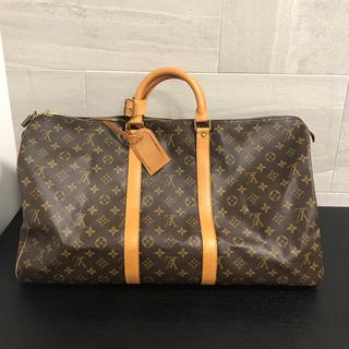 ルイヴィトン(LOUIS VUITTON)のルイヴィトン キーポル55 ボストンバッグ キャリーバッグ 旅行鞄 美品(トラベルバッグ/スーツケース)