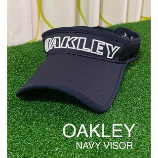 オークリー(Oakley)の⭐️OAKLEY⭐️オークリー⭐️サンバイザー⭐️ネイビー(その他)