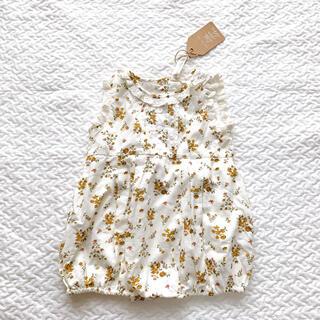 キャラメルベビー&チャイルド(Caramel baby&child )の新品 little cotton clothes 花柄ロンパース 18-24m(その他)