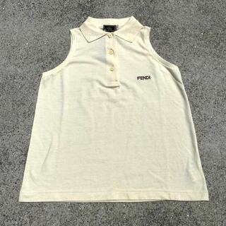 フェンディ(FENDI)のFENDI フェンディ イタリア製 ポロシャツ デッドストック 刺繍ロゴ(ポロシャツ)