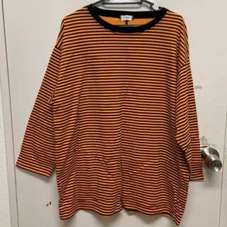 ウィゴー(WEGO)のオレンジボーダーT(Tシャツ(長袖/七分))
