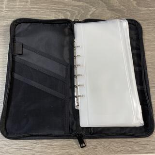ムジルシリョウヒン(MUJI (無印良品))の無印良品 パスポートケース黒+クリアケース6枚(日用品/生活雑貨)