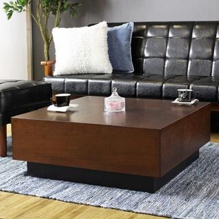 収納付きセンターテーブル  正方形テーブル/ローテーブル/木製テーブル/630(ローテーブル)