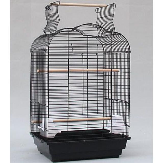 手乗りインコ用鳥かご/大型(天井オープン)□黒 その他のペット用品(鳥)の商品写真