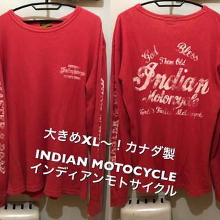 トウヨウエンタープライズ(東洋エンタープライズ)の大きめXL〜!カナダ製INDIAN MOTOCYCLE インディアンモトサイクル(Tシャツ/カットソー(七分/長袖))