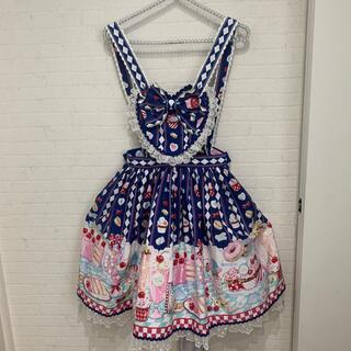 アンジェリックプリティー(Angelic Pretty)のアンジェリックプリティ エプロン スカート diner doll ワンピース(ひざ丈スカート)