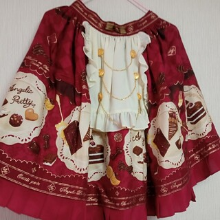 アンジェリックプリティー(Angelic Pretty)のAngelic Pretty Antique Chocolaterie スカート(ひざ丈スカート)
