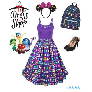 ディズニー(Disney)のインサイドヘッド ドレスショップ ディズニー dressshop(ひざ丈ワンピース)