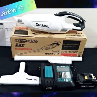 Makita - 新品✦ マキタ✦ CL181FDZW✦18V充電式掃除機✦ 液晶充電器セット