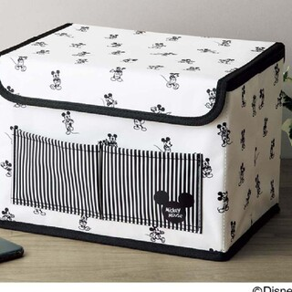 ミッキーマウス(ミッキーマウス)のインレッド付録クラッシックミッキー収納ボックス(小物入れ)