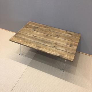 【70×45cm】天然木 折りたたみローテーブル ウォールナット(ローテーブル)