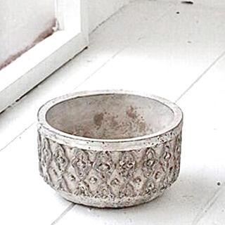 ザラホーム(ZARA HOME)のペダンクル・シリンダーポットS 鉢 アンティーク調 アラベスク柄(プランター)