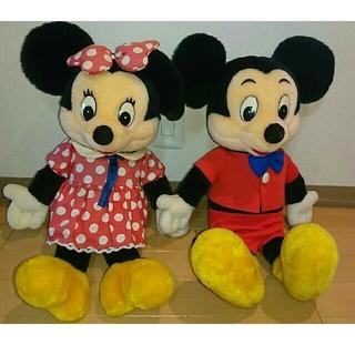 ミッキーマウス(ミッキーマウス)のミッキーマウス&ミニーマウスぬいぐるみ(ぬいぐるみ/人形)