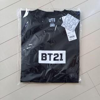 ボウダンショウネンダン(防弾少年団(BTS))のBT21 UNIQLOコラボTシャツ Lサイズ(Tシャツ/カットソー(半袖/袖なし))