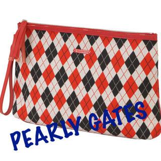 パーリーゲイツ(PEARLY GATES)の新品■20,900円【パーリーゲイツ】 クラッチ バッグ  レッド(バッグ)
