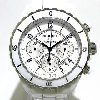 シャネル(CHANEL)のシャネル 腕時計 J12 H1007 メンズ 白(その他)