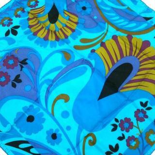 グッチ(Gucci)のグッチ スカーフ ブルー×パープル×マルチ(バンダナ/スカーフ)