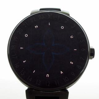 ルイヴィトン(LOUIS VUITTON)のヴィトン 腕時計 QA002 / R15136 メンズ 黒(その他)