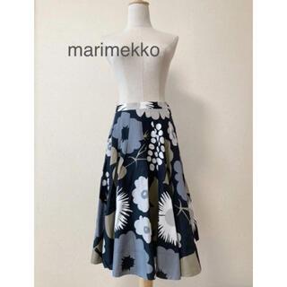マリメッコ(marimekko)の美品 マリメッコ 膝丈 フレアスカート(ひざ丈スカート)