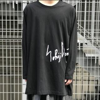 ヨウジヤマモト(Yohji Yamamoto)のGround Y 手書きロゴ入りジャンボカットソー(Tシャツ/カットソー(七分/長袖))